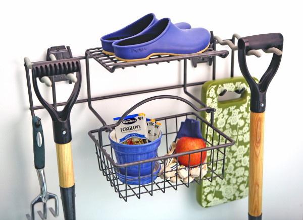 Organized_Living-Schulte_M-5200_Garden_Rack_Basket_Flat_Wall